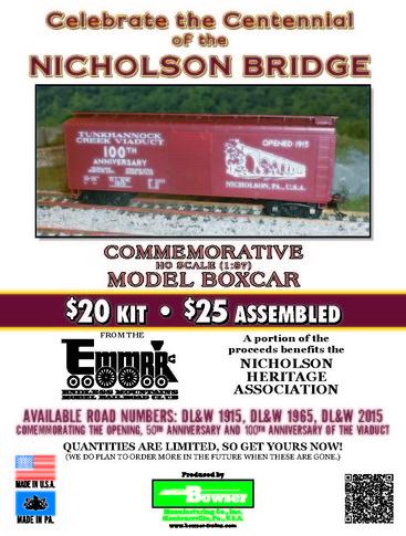 EMMRC - Nicholson Bridge HO Car